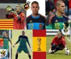 Víctor Valdés (The panther Hospitalet) Spanish team goalie or goalkeeper