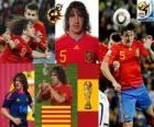 Carles Puyol (The head of Spain) Spanish team defense