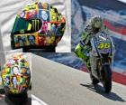 Valentino Rossi takes on his helmet to the people important to him.