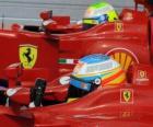 Fernando Alonso, Felipe Massa - Ferrari - Hungarian Grand Prix 2010