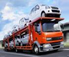 Truck transport of cars