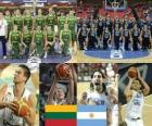 Lithuania - Argentina, quarter finals, 2010 FIBA World Turkey