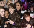 Justin Bieber with their fans