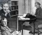 Agatha Christie (1890 - 1976) was a british writer of detective novels.