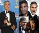 Actor George Clooney film and television, winning an Academy Award and Golden Globe