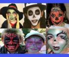 Children makeup for Halloween