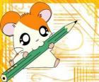 Hamtaro, an adventurous and mischievous hamster