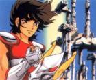 Pegasus Seiya, the main character of Saint Seiya or Knights of the Zodiac