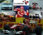 Fernando Alonso celebrates his victory in the Korean Grand Prix (2010)