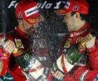 Fernando Alonso, Felipe Massa, Grand Prix of Korea (2010) (1st and 2nd place)