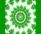 Mandala with Christmas decorations