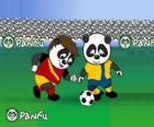 Panfu pandas playing football