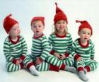 Children dressed up for Christmas