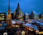 Christkindl Market Nuremberg Bavaria Germany