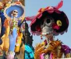 The skull Catrina, one of the most popular Day of the Dead in Mexico