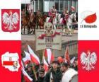 Polish National holiday, november 11. Commemoration of the independence of Poland in 1918