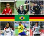 Nominated for FIFA Women's World Player of the Year 2010 (Fatmire Bajramaj, Marta Vieira da Silva, Birgit Prinz)