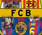 Xavi Hernandez 550 games for FC Barcelona