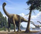 Camarasaurus in the landscape