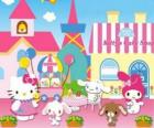 Hello Kitty and her friends enjoying a day in Pastry