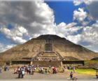 Pyramid of the Sun, the largest building in the archaeological city of Teotihuacan, Mexico