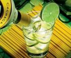 The caipirinha is a Brazilian cocktail consisting of rum, lime, sugar and ice.