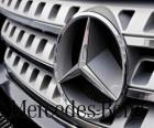 Mercedes logo, Mercedes-Benz, German brand vehicles. Three-pointed star of Mercedes