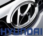 Hyundai logo, brand of cars in South Korea