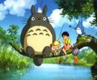 Tororo, the king of the forest and friends in the anime film My Neighbor Tororo