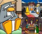 Sensei is a very wise penguin living in the Dojo and teaches them to be ninja penguins