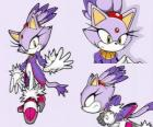 Blaze the Cat, a princess and one of the Sonic friends