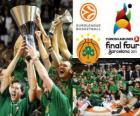 Panathinaikos, PAO, champion of the 2011 Euroleague Basketball