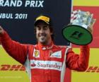 Fernando Alonso - Ferrari - Istanbul, Turkey Grand Prix (2011) (3rd place)
