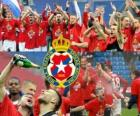 Wisla Krakow, champion of the Polish football league Ekstraklasa 2010-2011