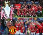 Manchester United, champion of the english football league. Premier League 2010-2011