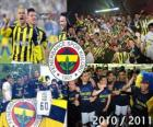 Fenerbahçe SK, champion of the Turkish football league, Super Lig 2010-2011
