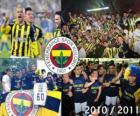 Fenerbahçe SK, champion of the Turkish football league, Super Lig 2010-2011