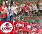 LOSC Lille, champion of the French football league, Ligue 1 2010-2011