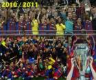 FC Barcelona, ​​champion of the UEFA Champions League 2010-2011
