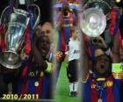 Éric Abidal gathering as captain Cup, Champions League 2010-2011