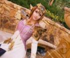 The beautiful Princess Zelda with a rose in hand
