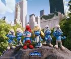 The Smurfs in Central Park in New York City - The Smurfs Movie -