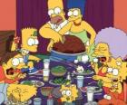 The Simpson family on the day of Thanksgiving where families gather to eat