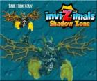 Dark Flameclaw. Invizimals Shadow Zone. Strange creature, evil and aggressive Invizimal