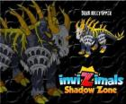 Dark Hilltopper. Invizimals Shadow Zone. Fighting machine full of rage