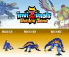 Draco Cub, Draco Scout, Draco Max. Invizimals Shadow Zone. An ancient dragon carved in stone with great force