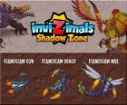 Flameclaw Cub, Flameclaw Scout, Flameclaw Max. Invizimals Shadow Zone. This creature resembling a scorpion is the king of the Egyptian desert