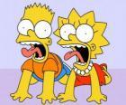 Bart and Lisa screaming