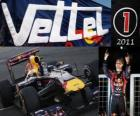Sebastian Vettel, F1 World Champion 2011 with Red Bull Racing, is the youngest world champion