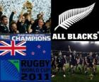 New Zealand rugby world champion. Rugby World Cup 2011